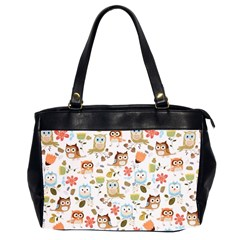 Cute Owl Office Handbags (2 Sides)  by Nexatart