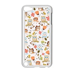 Cute Owl Apple Ipod Touch 5 Case (white) by Nexatart