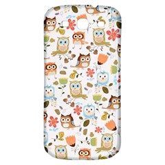 Cute Owl Samsung Galaxy S3 S Iii Classic Hardshell Back Case by Nexatart