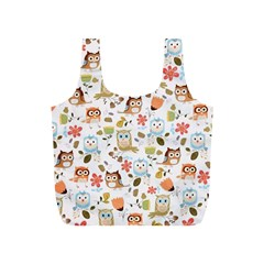 Cute Owl Full Print Recycle Bags (s)  by Nexatart