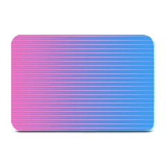 Turquoise Pink Stripe Light Blue Plate Mats by Mariart