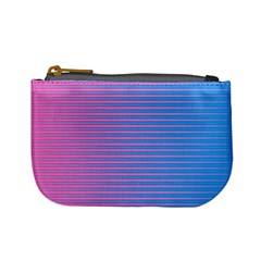 Turquoise Pink Stripe Light Blue Mini Coin Purses by Mariart