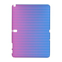 Turquoise Pink Stripe Light Blue Galaxy Note 1 by Mariart