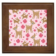Preety Deer Cute Framed Tiles by Nexatart