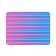 Turquoise Pink Stripe Light Blue Double Sided Flano Blanket (mini)  by Mariart