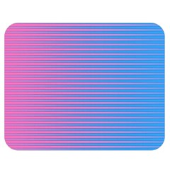 Turquoise Pink Stripe Light Blue Double Sided Flano Blanket (medium)  by Mariart