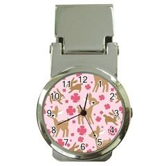 Preety Deer Cute Money Clip Watches by Nexatart