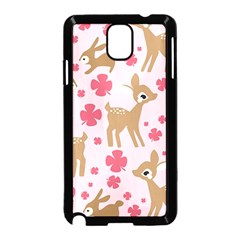Preety Deer Cute Samsung Galaxy Note 3 Neo Hardshell Case (black) by Nexatart