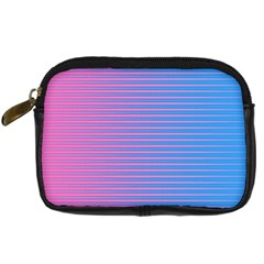 Turquoise Pink Stripe Light Blue Digital Camera Cases by Mariart