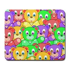 Cute Cartoon Crowd Of Colourful Kids Bears Large Mousepads by Nexatart