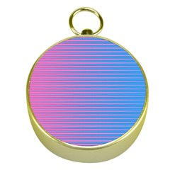 Turquoise Pink Stripe Light Blue Gold Compasses by Mariart