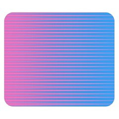 Turquoise Pink Stripe Light Blue Double Sided Flano Blanket (small)  by Mariart