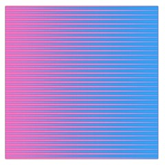 Turquoise Pink Stripe Light Blue Large Satin Scarf (square) by Mariart