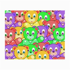 Cute Cartoon Crowd Of Colourful Kids Bears Small Glasses Cloth by Nexatart
