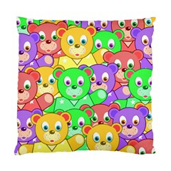 Cute Cartoon Crowd Of Colourful Kids Bears Standard Cushion Case (two Sides) by Nexatart