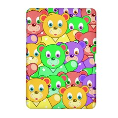 Cute Cartoon Crowd Of Colourful Kids Bears Samsung Galaxy Tab 2 (10 1 ) P5100 Hardshell Case  by Nexatart