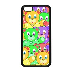 Cute Cartoon Crowd Of Colourful Kids Bears Apple Iphone 5c Seamless Case (black) by Nexatart