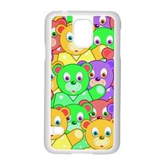 Cute Cartoon Crowd Of Colourful Kids Bears Samsung Galaxy S5 Case (white) by Nexatart
