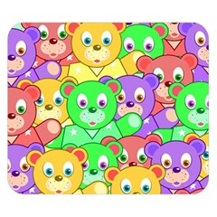 Cute Cartoon Crowd Of Colourful Kids Bears Double Sided Flano Blanket (small)  by Nexatart