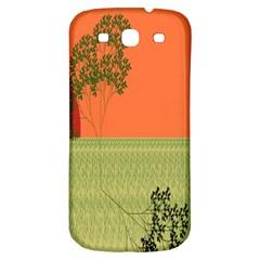Sunset Orange Green Tree Sun Red Polka Samsung Galaxy S3 S Iii Classic Hardshell Back Case by Mariart