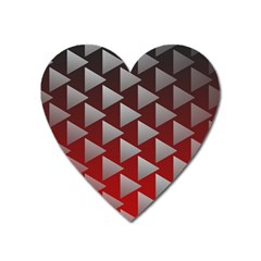 Netflix Play Button Pattern Heart Magnet by Nexatart