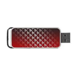 Netflix Play Button Pattern Portable Usb Flash (one Side) by Nexatart