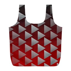 Netflix Play Button Pattern Full Print Recycle Bags (l)  by Nexatart