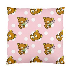 Kawaii Bear Pattern Standard Cushion Case (one Side) by Nexatart