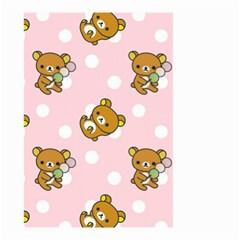 Kawaii Bear Pattern Small Garden Flag (two Sides) by Nexatart