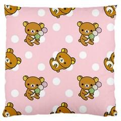 Kawaii Bear Pattern Large Cushion Case (two Sides) by Nexatart