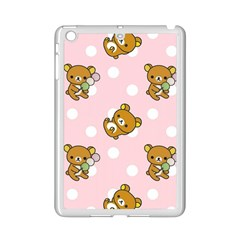 Kawaii Bear Pattern Ipad Mini 2 Enamel Coated Cases by Nexatart