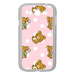 Kawaii Bear Pattern Samsung Galaxy Grand Duos I9082 Case (white) by Nexatart