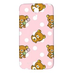 Kawaii Bear Pattern Samsung Galaxy Mega I9200 Hardshell Back Case by Nexatart