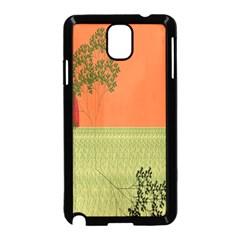 Sunset Orange Green Tree Sun Red Polka Samsung Galaxy Note 3 Neo Hardshell Case (black) by Mariart