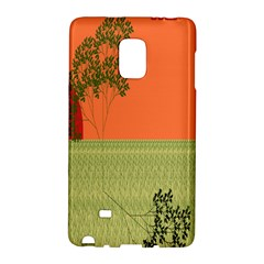 Sunset Orange Green Tree Sun Red Polka Galaxy Note Edge by Mariart
