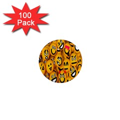 Smileys Linus Face Mask Cute Yellow 1  Mini Magnets (100 Pack)  by Mariart