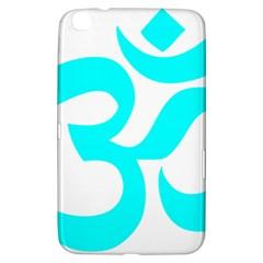 Hindu Om Symbol (cyan) Samsung Galaxy Tab 3 (8 ) T3100 Hardshell Case  by abbeyz71