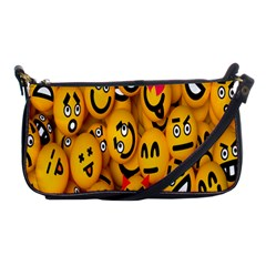 Smileys Linus Face Mask Cute Yellow Shoulder Clutch Bags by Mariart