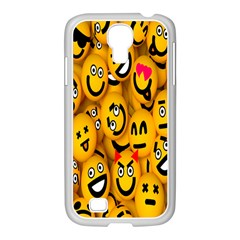 Smileys Linus Face Mask Cute Yellow Samsung Galaxy S4 I9500/ I9505 Case (white) by Mariart