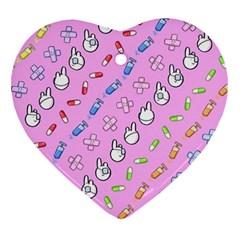 Chaffyyami Nurse Desktop Heart Ornament (two Sides) by Nexatart