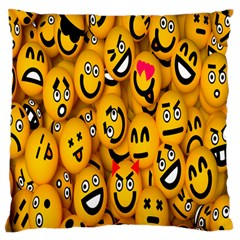 Smileys Linus Face Mask Cute Yellow Large Flano Cushion Case (two Sides) by Mariart