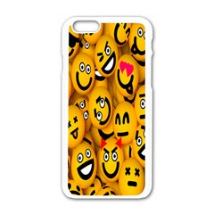 Smileys Linus Face Mask Cute Yellow Apple Iphone 6/6s White Enamel Case by Mariart