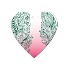 Toggle The Widget Bar Leaf Green Pink Heart Magnet by Mariart