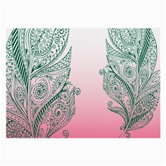 Toggle The Widget Bar Leaf Green Pink Large Glasses Cloth by Mariart