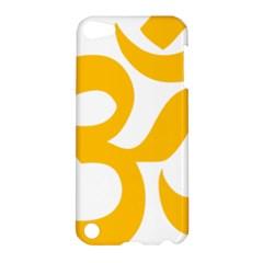 Hindu Om Symbol (gold) Apple Ipod Touch 5 Hardshell Case by abbeyz71