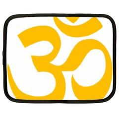 Hindu Gold Symbol (gold) Netbook Case (large) by abbeyz71