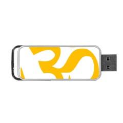 Hindu Gold Symbol (gold) Portable Usb Flash (two Sides) by abbeyz71