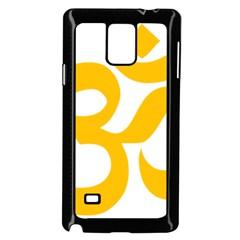 Hindu Gold Symbol (gold) Samsung Galaxy Note 4 Case (black) by abbeyz71