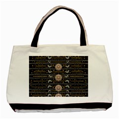 Pearls And Hearts Of Love In Harmony Basic Tote Bag by pepitasart
