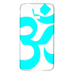 Aum Om Cyan Samsung Galaxy S5 Back Case (white) by abbeyz71